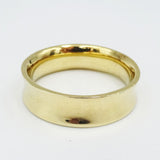 9ct Yellow Gold Curved Gents Wedding Band Size U  6.5g - Richard Miles Jewellers