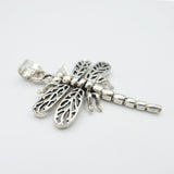 925 Sterling Silver Jointed Dragonfly Pendant - Richard Miles Jewellers