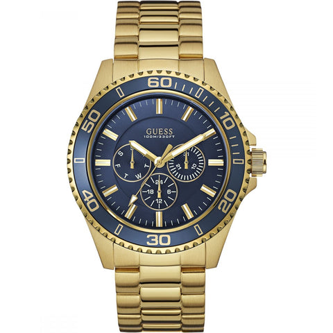 GUESS W0172G5 Men's Chaser Watch Blue Dial Chrono - Richard Miles Jewellers