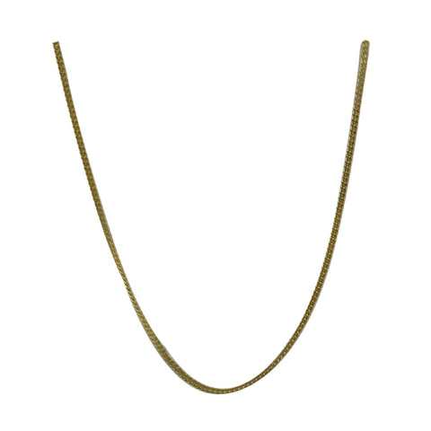 9ct Yellow Gold Fine Curb Style Ladies Chain 18inch 1.4g 0.95mm - Richard Miles Jewellers