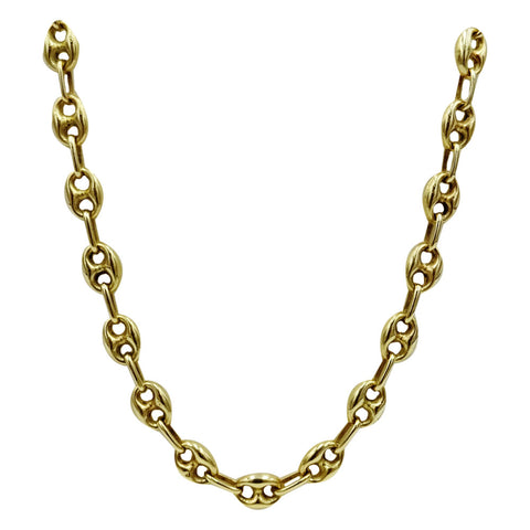 14ct Yellow Gold 585 Hall Marked Coffee Bean Unique Unisex Chain 18inch 12.8g