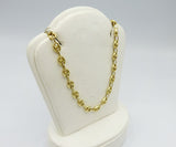 14ct Yellow Gold 585 Hall Marked Coffee Bean Unique Unisex Chain 18inch 12.8g - Richard Miles Jewellers