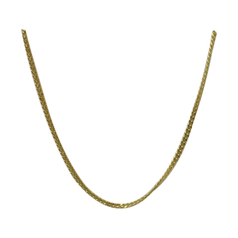 9ct Yellow Gold 375 Fine Curb Style Ladies Chain 18inch 1.9g 1.25mm - Richard Miles Jewellers