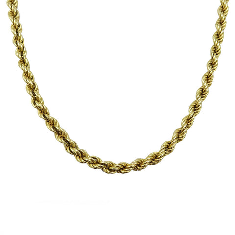 9ct Yellow Gold Heavy Rope Chain Necklace 15.7g 22inch - Richard Miles Jewellers