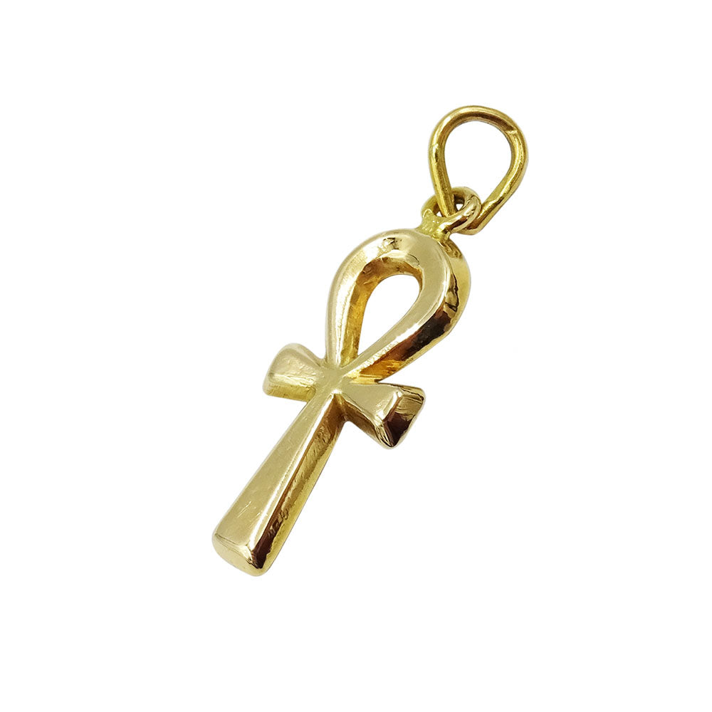 18ct Yellow Gold Medium Ankh Cross Pendant - Richard Miles Jewellers