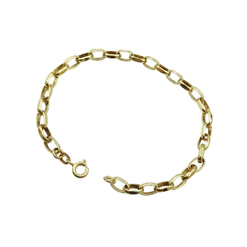 9ct Yellow Gold Belcher Chain Bracelet 7.3g - Richard Miles Jewellers