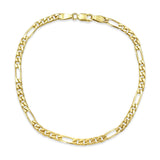9ct Yellow Gold Fine Figaro Bracelet