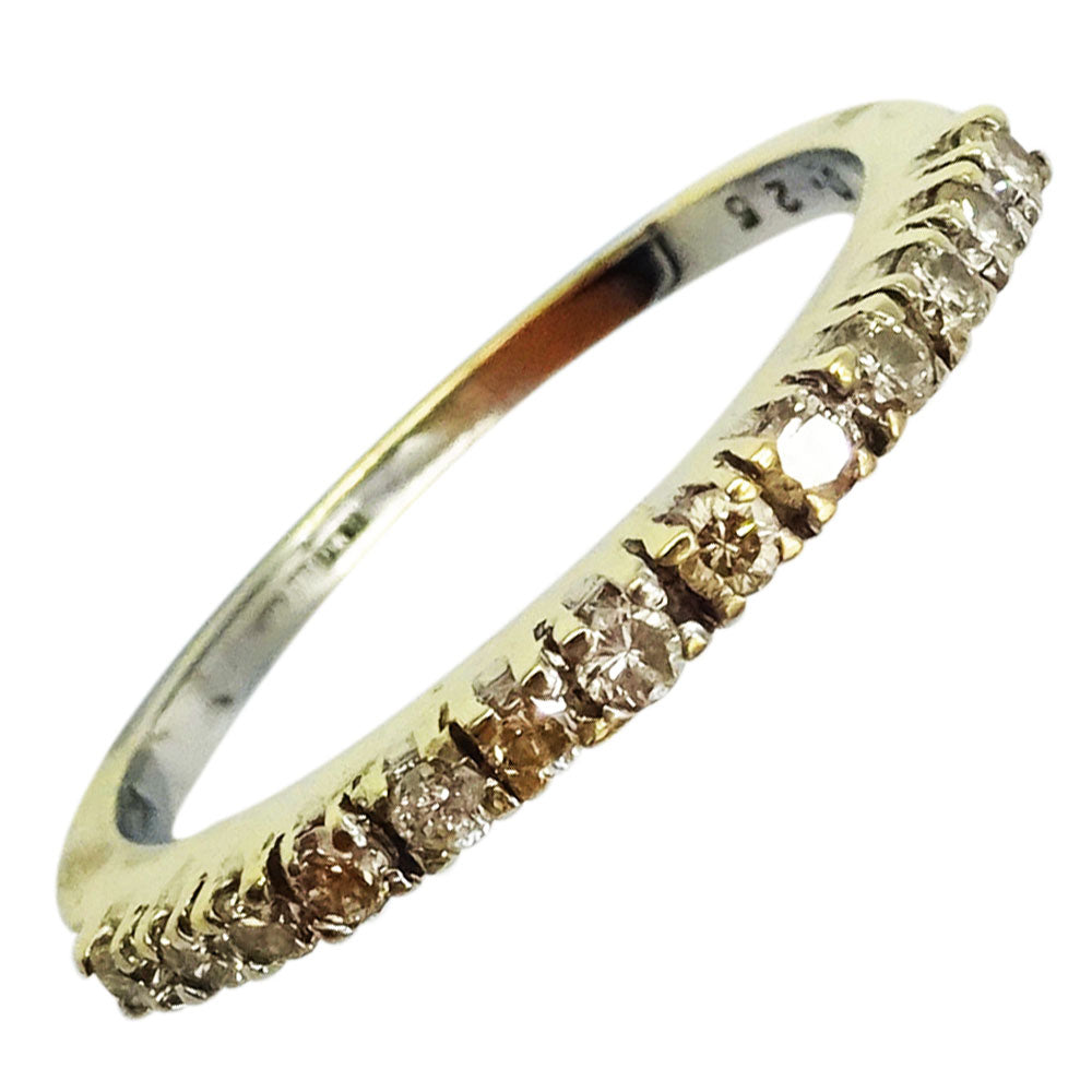 9ct Yellow Gold 375 Hall Mark Claw Set 0.25ct Diamond Half Eternity Ring N 1.8g - Richard Miles Jewellers