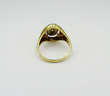 18ct Yellow Gold 0.18ct Diamond Oval Unisex Ring Size M 5.8mm - Richard Miles Jewellers