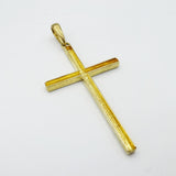 9ct Yellow Gold Large Cross Pendant 2.9g - Richard Miles Jewellers