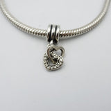 Pandora Authentic Snake Chain With Double Linked Heart Charm 17inch 2.8mm 32g - Richard Miles Jewellers