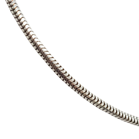 925 Sterling Silver Fancy Snake Chain Necklace 8g