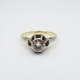 18ct Yellow Gold 0.40ct Diamond Vintage Style Ladies Quality Ring 3.2g Size N - Richard Miles Jewellers