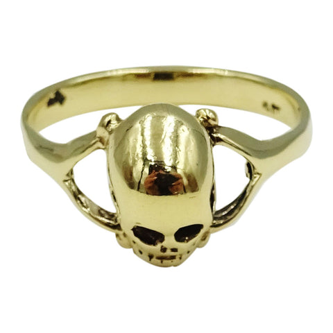 9ct Yellow Gold Unique Quality Men's 3D Skull Ring Size T 1/2 4.1g