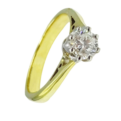 9ct gold 0.40ct diamond ladies engagement ring