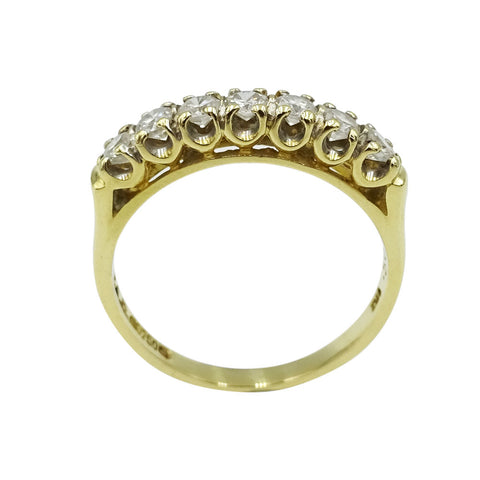 18ct Yellow Gold Diamond 7 Stone Half Eternity Ring 0.50ct