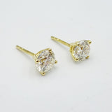 18ct Round Brilliant Cut Large 1.7ct SI1 G Diamond Stud Earrings - Richard Miles Jewellers