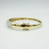 9ct Yellow Gold Pave Set 0.40ct Diamond Ladies Bangle 11.53g 6.7inches - Richard Miles Jewellers