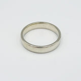 9ct White Gold Smooth Shiny Finish 4mm Wedding Band Size L 3.1g - Richard Miles Jewellers