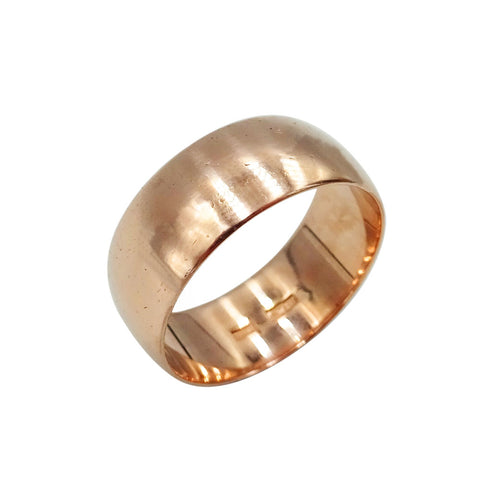 9ct Old Gold (COLOUR) Plain Wide Ring Size N 1/2 4.4g - Richard Miles Jewellers