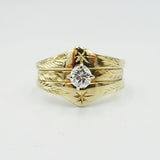 14ct Yellow Gold Diamond Wedding & Engagement Ring Set 0.30ct - Richard Miles Jewellers