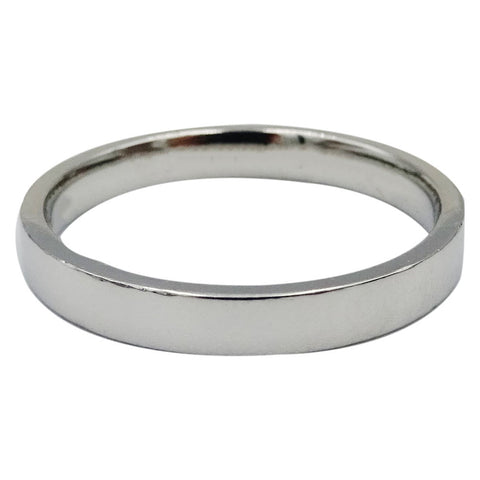 Platinum 950 Hall Marked 3mm Flat Sleek Wedding Band 5.4g Size R 1/2