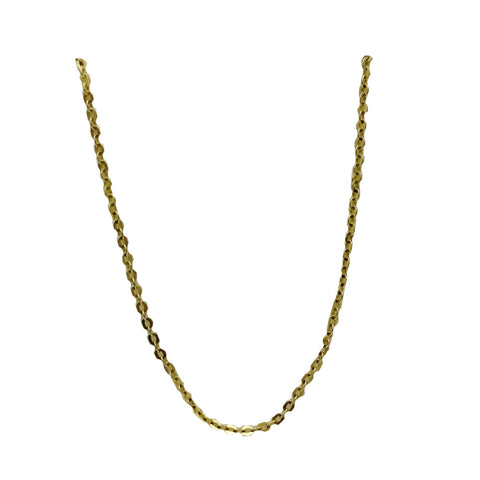 9ct Yellow Gold 375 Hall Mark Round Link Fine Belcher Unisex Chain 20inch 1.9g