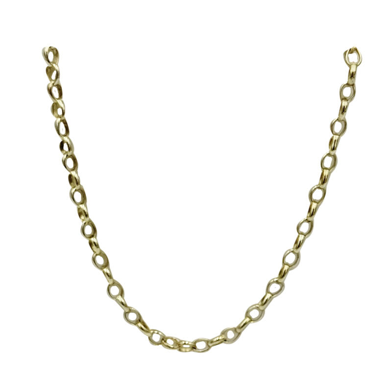 9ct Yellow Gold Quality Belcher Style Smooth Long Chain 2mm 25inch 6.2g - Richard Miles Jewellers