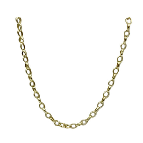 9ct Yellow Gold Quality Belcher Style Smooth Long Chain 2mm 25inch 6.2g