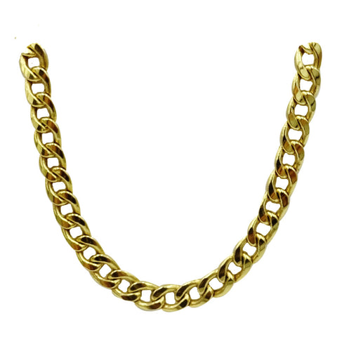 9ct Yellow Gold 375 Hollow Curb Style Chain 5.3mm 20inch 14g