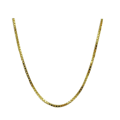 9ct Yellow Gold 375 Hall Marked Fine Box Chain 16inch 2.3g