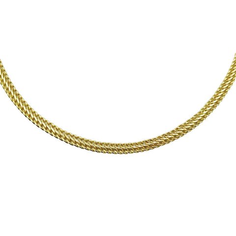 "9ct Yellow Gold Fancy Double Link Chain Necklace 6.3g 18"" - Richard Miles Jewellers"