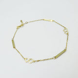 "333  Yellow Gold Fine Dainty Heart Chain Bracelet 7.5"" - Richard Miles Jewellers"