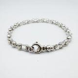 Pre-Owned - 9ct White Gold Gents Bike Chain Bracelet 21g - Richard Miles Jewellers