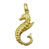 9ct Yellow Gold 3D Sea Horse Charm/Pendant 26.5mm 0.6g