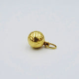 9ct Yellow Gold 3D Football Charm/Pendant 0.8g 17.75mm - Richard Miles Jewellers