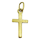 9ct Yellow Gold Small Plain Cross 18.4mm 0.3g - Richard Miles Jewellers