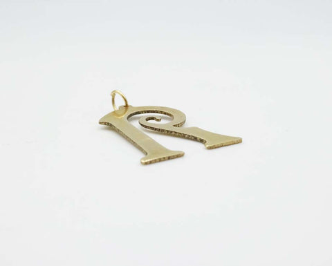 9ct Yellow Gold Fancy R Initial Pendent