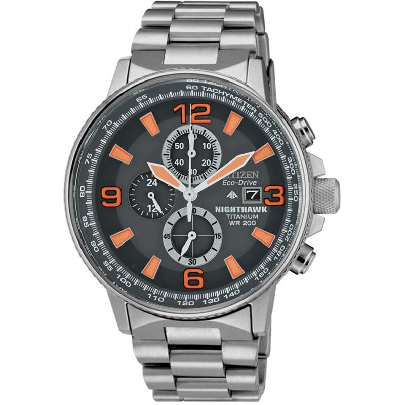 Citizen Men's Eco Drive Nighthawk Titanium Watch CA0500-51H RRP £349