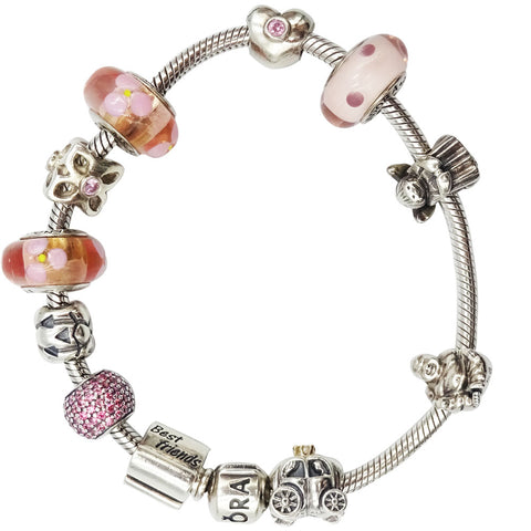 Authentic Pandora Snake Charm Bracelet 8inch  *11 Charms Included* - Richard Miles Jewellers
