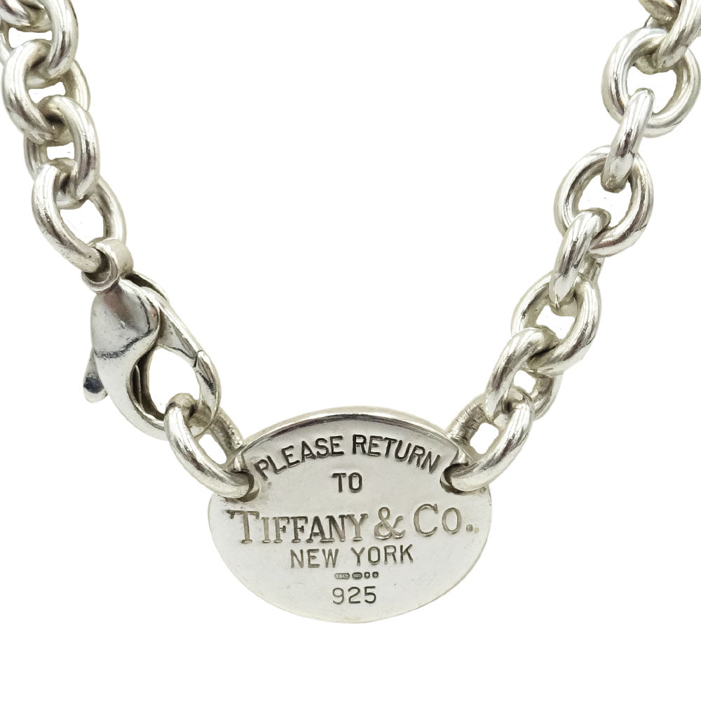 Authentic Tiffany & Co 925 Sterling Silver Necklace 15inch 53.3g - Richard Miles Jewellers