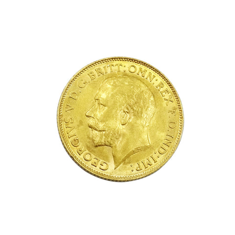22ct Gold George V 1913 Half Sovereign 3.9g - Richard Miles Jewellers
