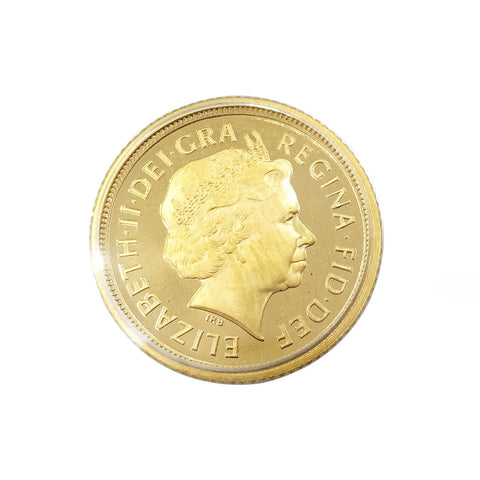 22ct Proof Yellow Gold Half Sovereign Elizabeth II 2003 3.9g - Richard Miles Jewellers