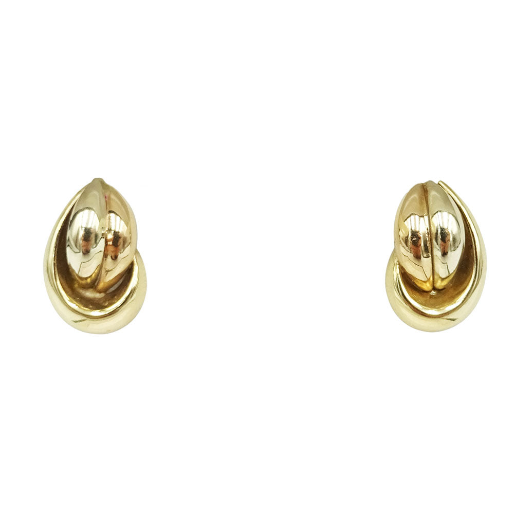 9ct 3 Colour Gold Swirl Stud Earrings 1.2g - Richard Miles Jewellers