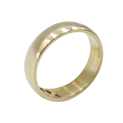9ct Gold Rounded Edge Wedding Band 4mm Size L 3.5g - Richard Miles Jewellers