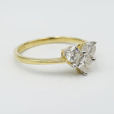 14ct Yellow Gold Diamond Heart Ring Size N 0.52ct - Richard Miles Jewellers