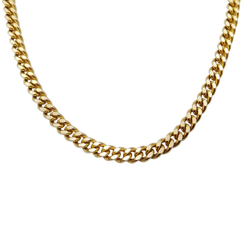 "9ct Gold Solid Curb Chain 17.6g 20"" - Richard Miles Jewellers"