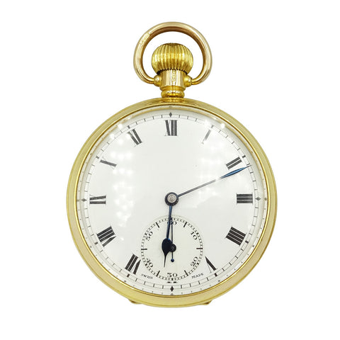 9ct Yellow Gold 'Buren' Swiss Made Wind-Up Pocket Watch 81g - Richard Miles Jewellers