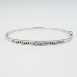 9ct White Gold Diamond Bangle Ladies Chanel Set 0.50ct - Richard Miles Jewellers