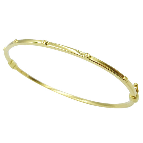 18ct Yellow Gold Screw Design Ladies Bangle 6.4g